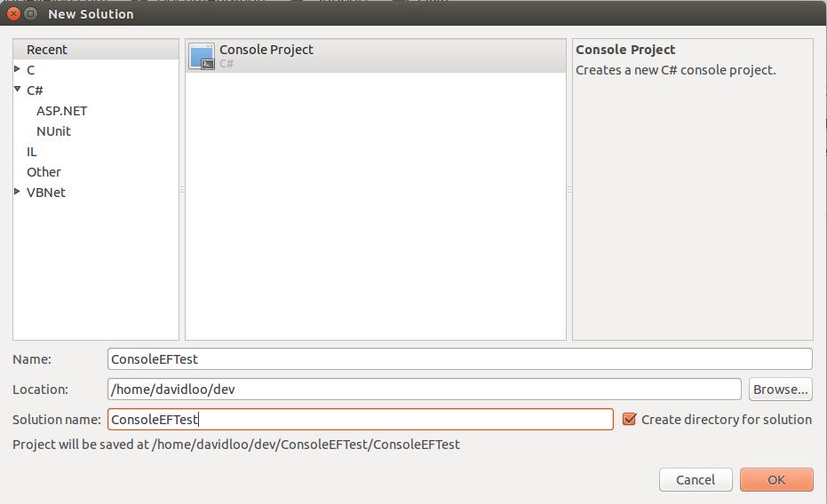Mono: Entity Framework – Basic Setup Guide   David Loo
